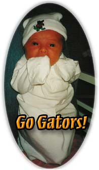 Abbie is already a Gators Fan!
