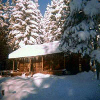 The Cabin and beautiful Montana Snow