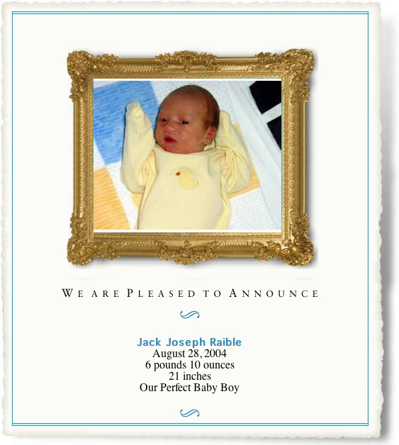 Jacks's Birth Announcement